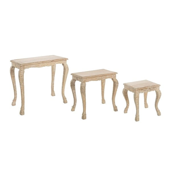 Set 3 stolků Vintage Natural
