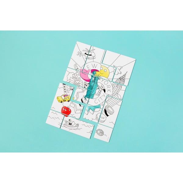 Puzzle k vymalování OMY New York