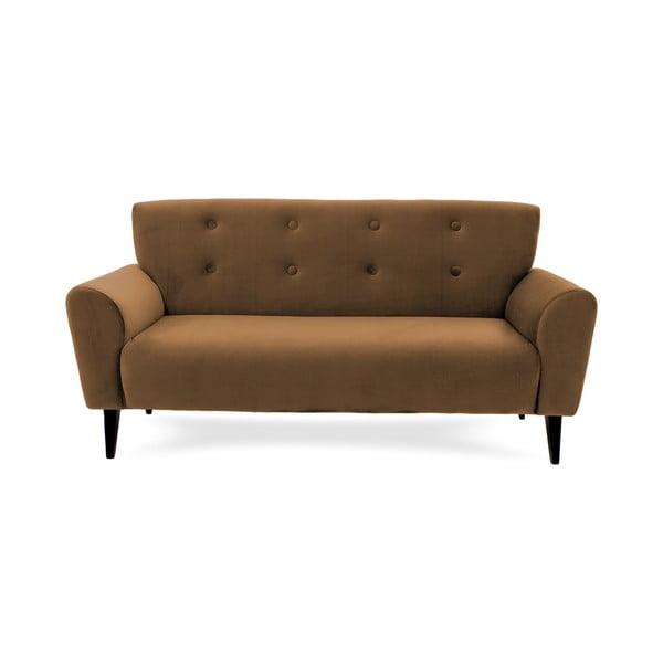Canapea cu 3 locuri Vivonita Kiara, maro tabac