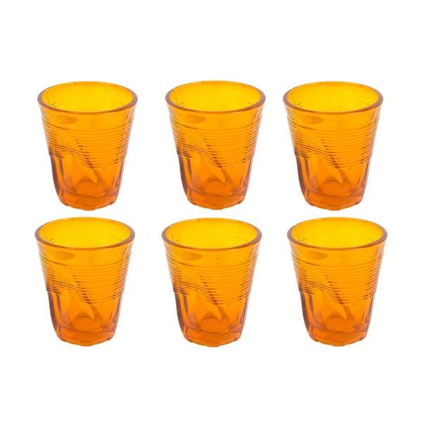 Sada 6 sklenic Kaleidos 225 ml, oranžová
