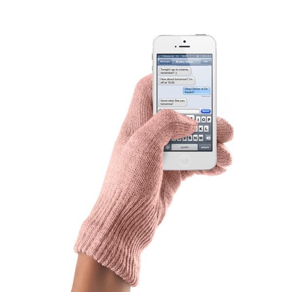 Touchscreen rukavice korálová, S/M