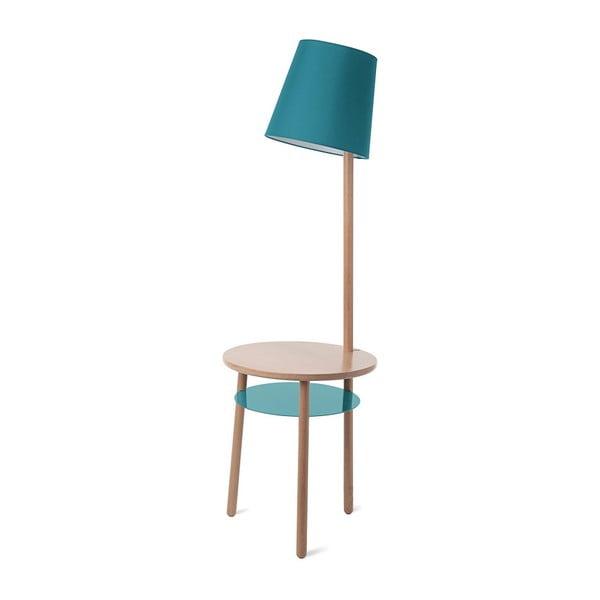 Modrá stolní lampa z jasanového dřeva HARTÔ Josette