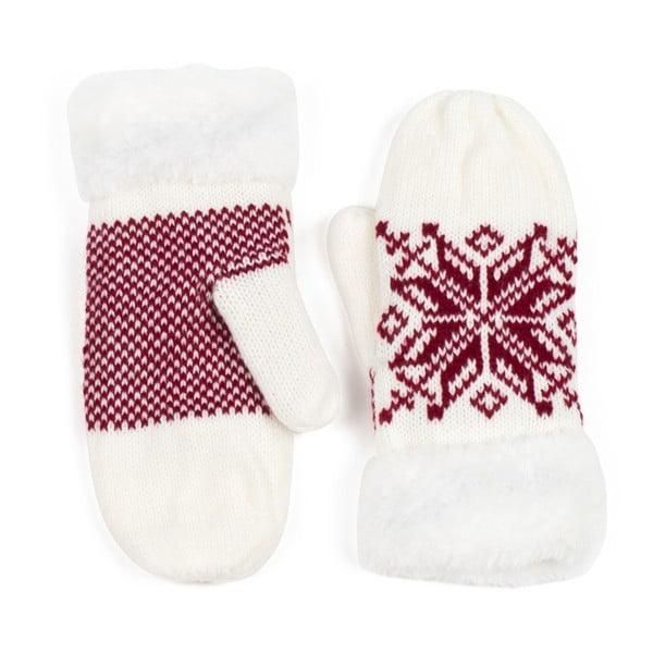 Bílé rukavice Lola se vzorem