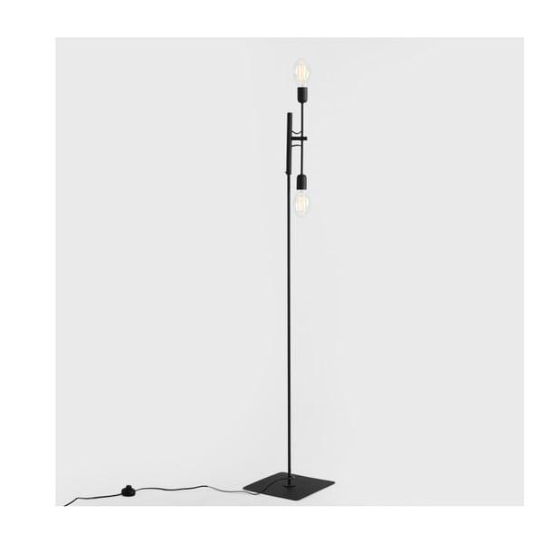 Černá stojací lampa pro 2 žárovky Custom Form Twigo