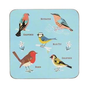 Suport din plută pentru pahar  Rex London Garden Birds