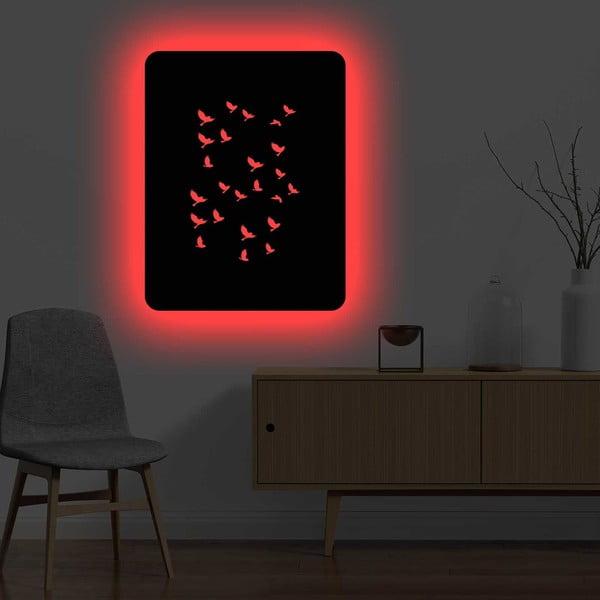Nástěnná světelná dekorace Birds, 67 x 82 cm