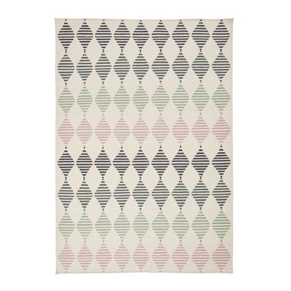 Ručně tkaný vlněný koberec Linie Design Sand, 140x200cm
