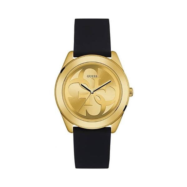 Dámské hodinky s černým silikonovým páskem Guess Bee