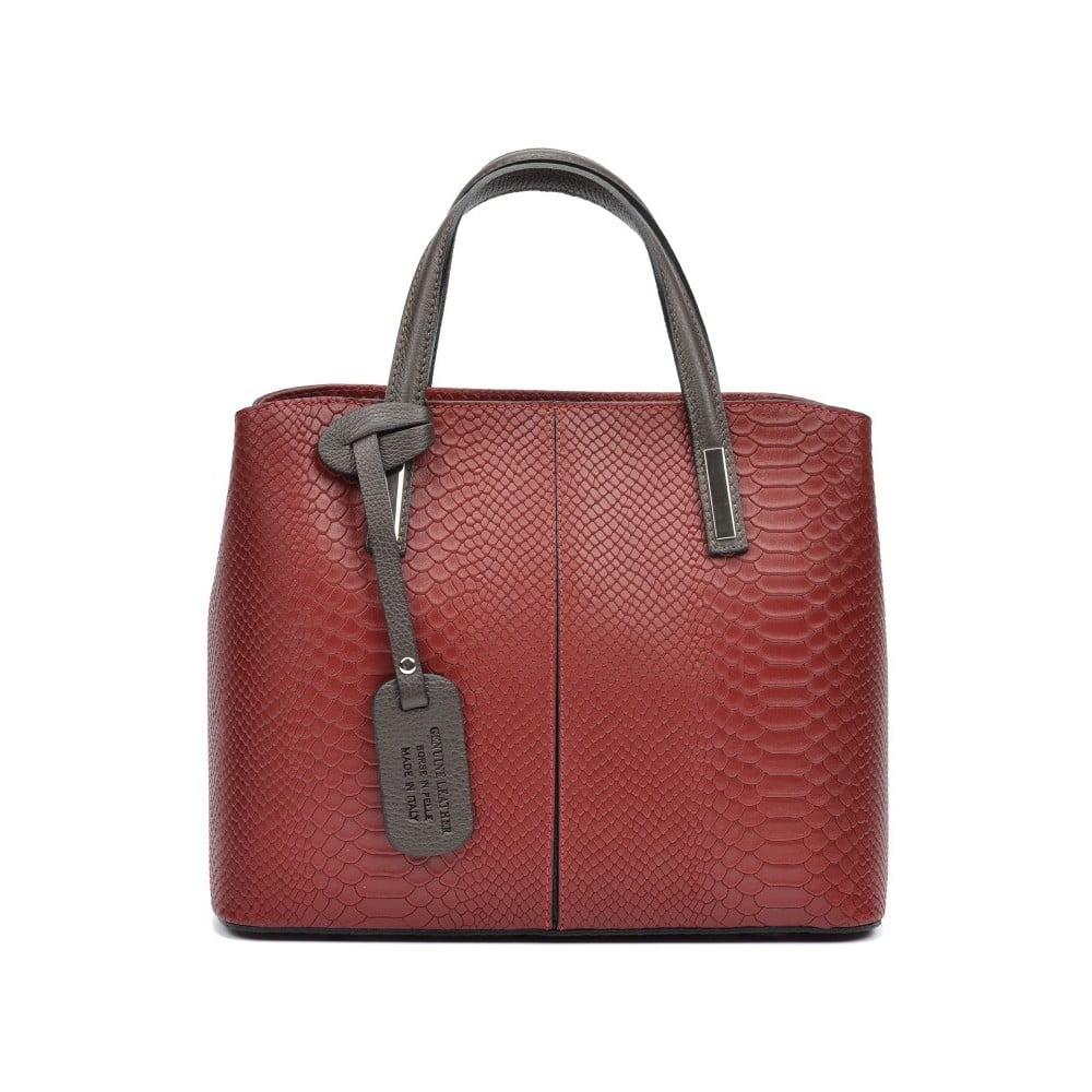 Červená kožená kabelka Roberta M Cecilio