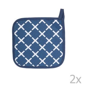 Set 2 șervete termice din bumbac Tiseco Home Studio Cross, albastru imagine