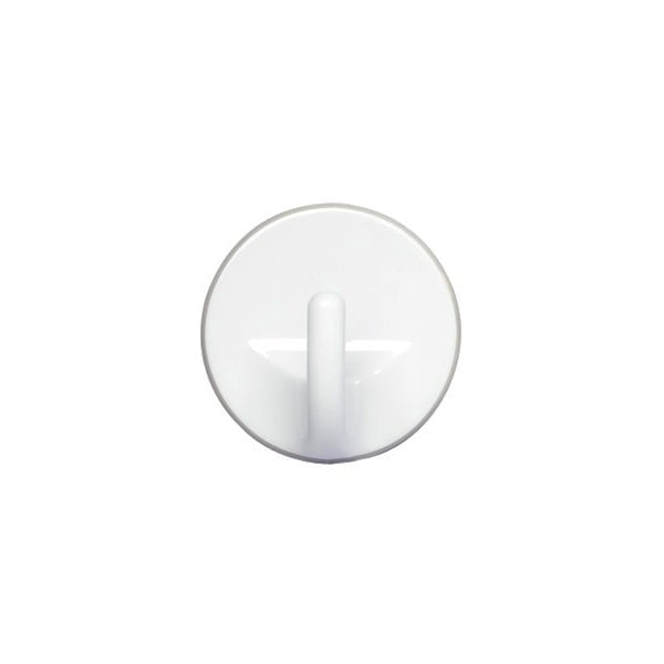 Sada 3 bílých nástěnných háčků Wenko Round Medium