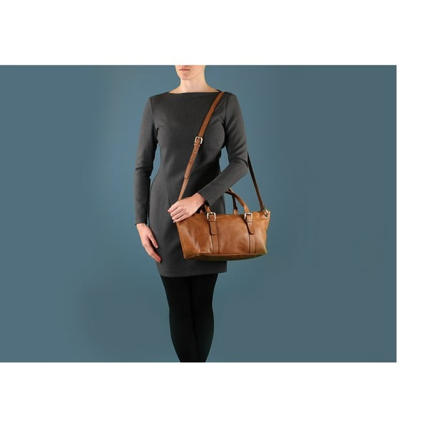 Dámská kožená kabelka Poppy Vintage Treacle