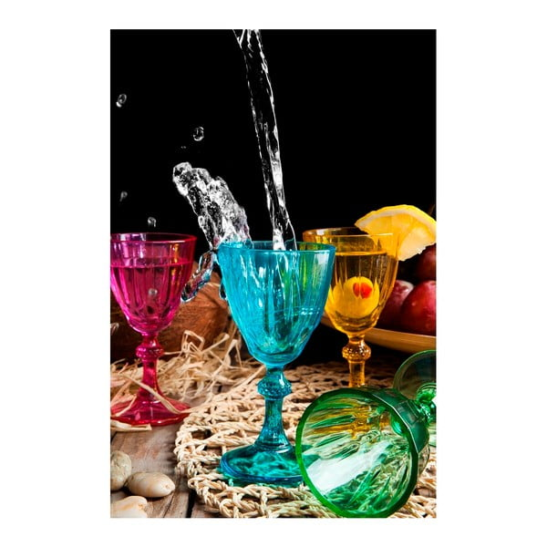 Sada 6 barevných skleniček Mezzo Orkide, 60 ml