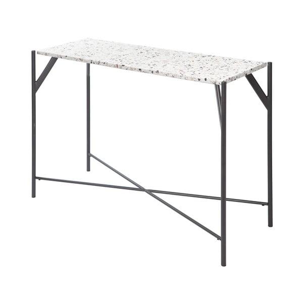 Stół z blatem z lastriko RGE Terrazzo Cosmos, 35x100cm