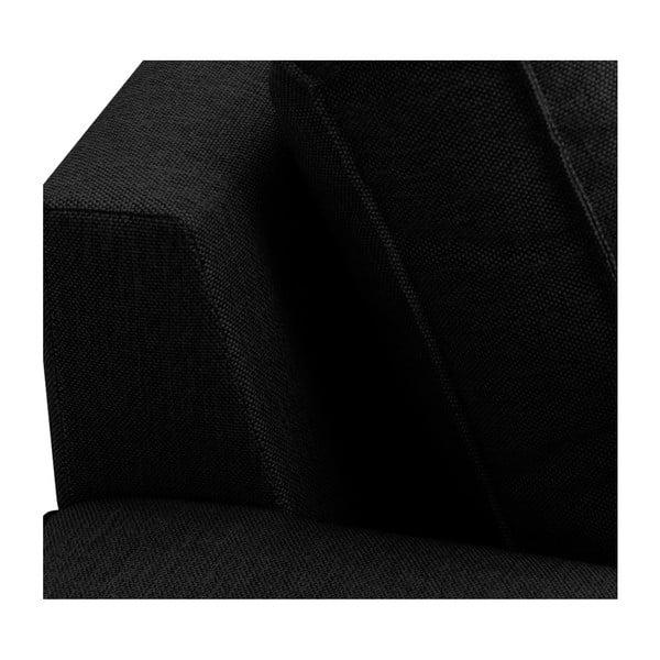 Černá 3místná pohovka HARPER MAISON Anna, levý roh