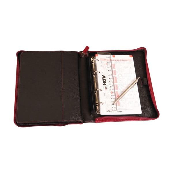 Desky s pouzdrem na tablet a diářem ADK Paradox, červenočerný