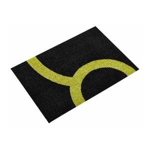 Univerzální rohožka Leone Lime/Black, 80x55 cm