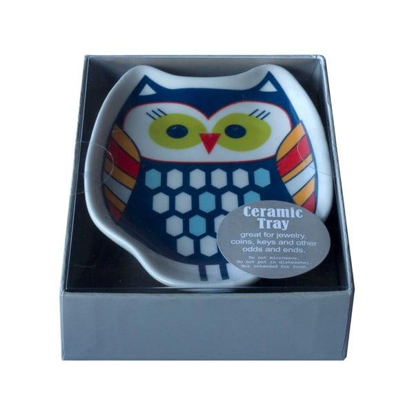 Keramický tácek Tri-Coastal Design Owl Tea