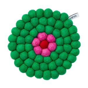 Vlněná podložka Trivet Green, 17 cm