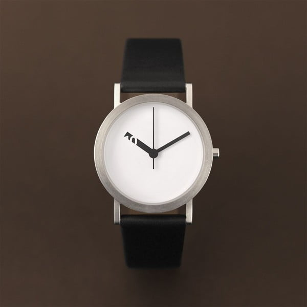 Hodinky Extra Normal Black Leather, 32 mm