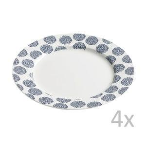 Sada 4 talířů Maxwell & Williams Indigo Flowers