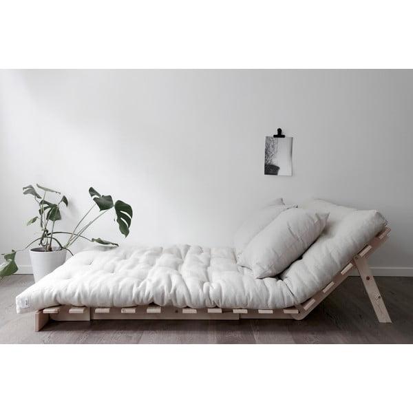 Canapea extensibilă Karup Design Roots Raw/Dark Grey