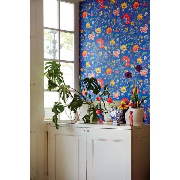 Tapeta Pip Studio Floral Fantasy, 0,52x10 m, tmavě modrá