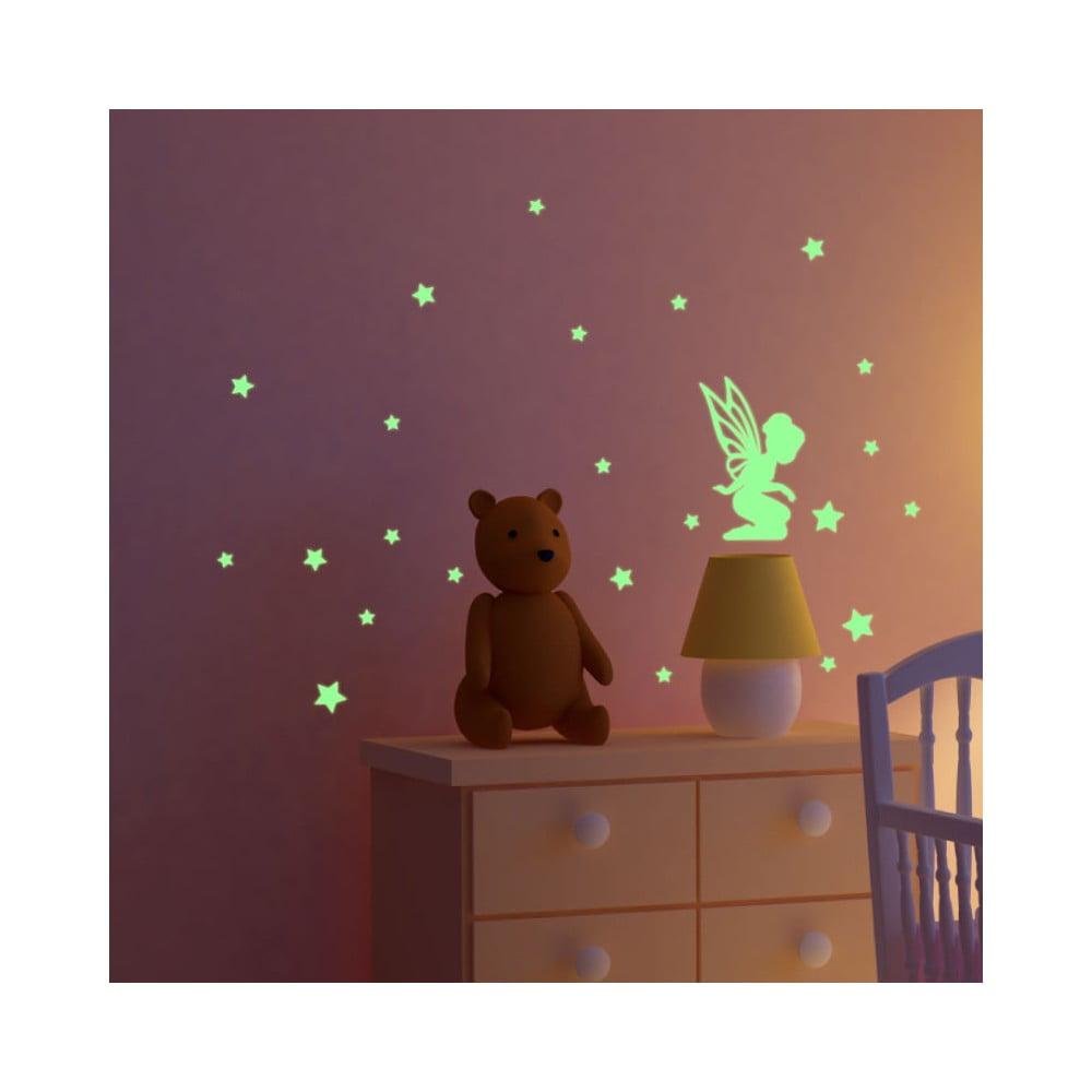 Svítící samolepka Ambiance Fairy With Small Stars