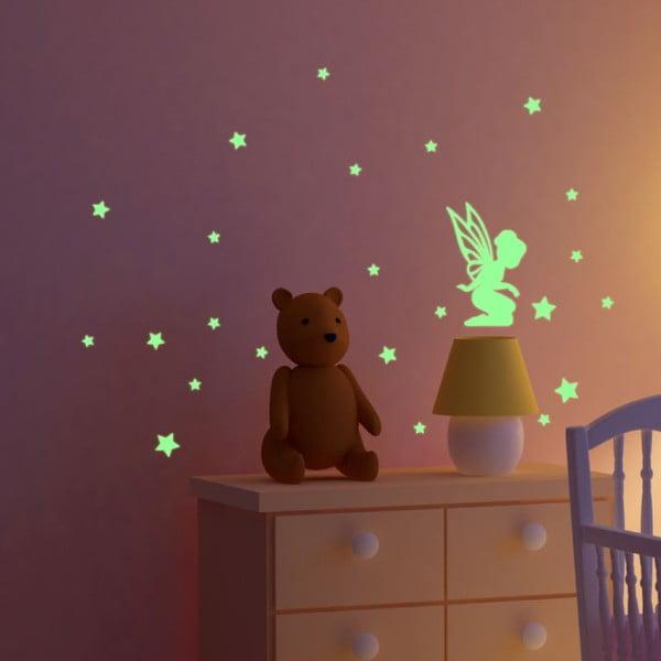 Svietiaca samolepka Ambiance Fanastick Fairy With Small Stars