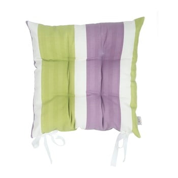 Pernă pentru scaun Apolena Stripes, 43 x 43 cm, verde – violet de la Apolena