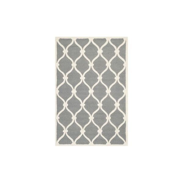 Vlnený koberec Hugo 91x152 cm, sivý