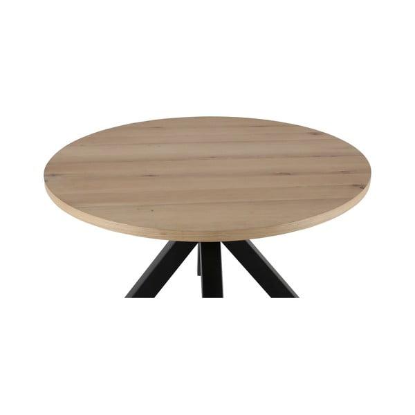 Masă rotundă cu picioare negre Canett Maison, ø 120 cm