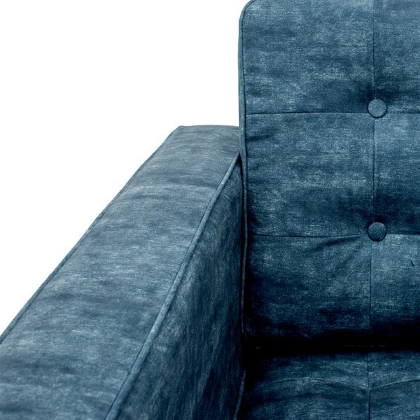 Tmavě modrá pohovka pro tři Vivonia Ben