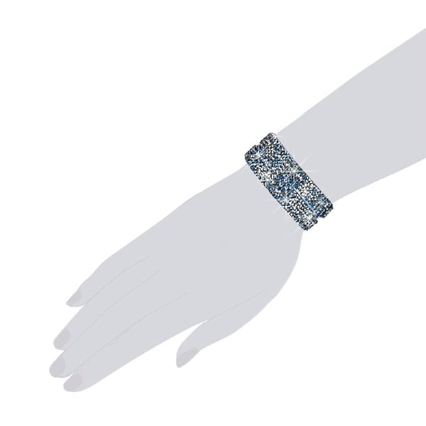 Náramek Blue Shine, 38 cm