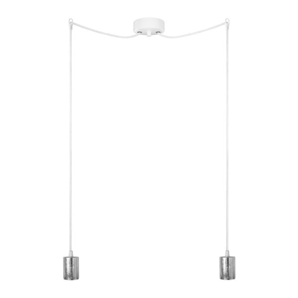 Dvojité závěsné kabely Bulb Attack Cero, střbrná/bílá/bílá