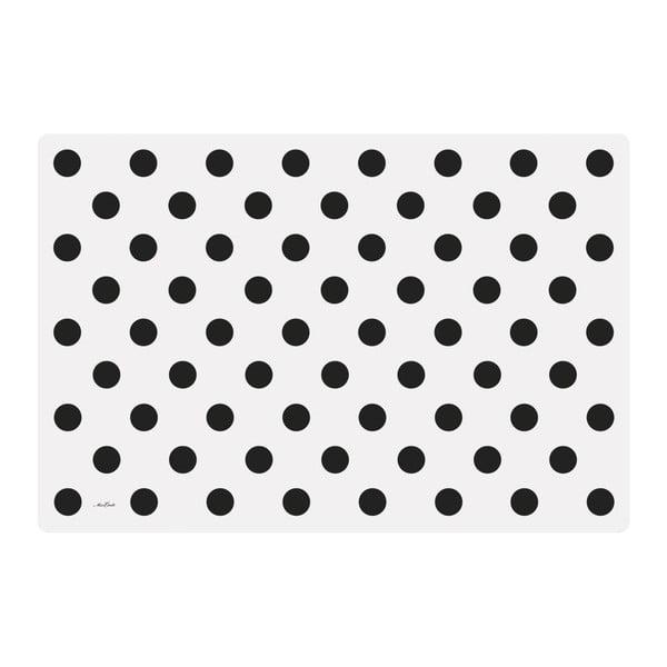 Sada 4 prostírání Big Black Dots