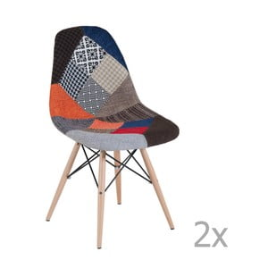 Set 2 scaune patchwork Castagnetti Arle