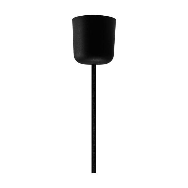 Černý závěsný kabel se stříbrnou objímkou Bulb Attack Uno
