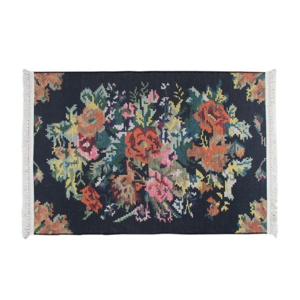 Kilim koberec Siesta 1502 Black, 120x180 cm