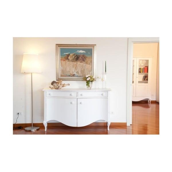Bílá dřevěná komoda Castagnetti Adeline