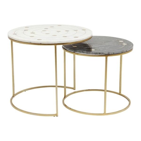 Sada 2 odkládacích stolků s mramorovou deskou Kare Design Mystic