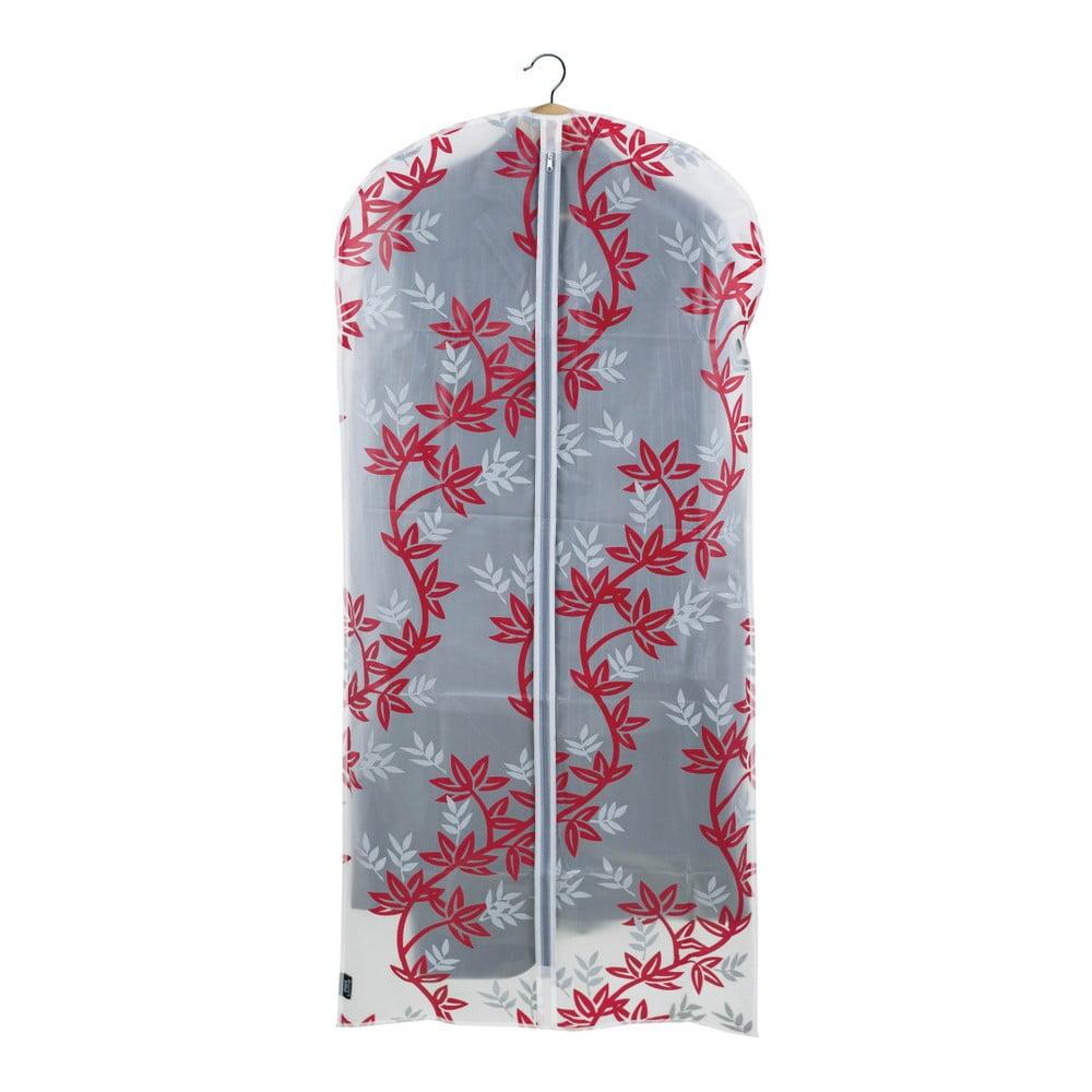 Červenobílý obal na šaty Domopak Living, délka 135 cm