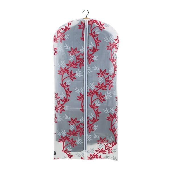 Czerwono-biały pokrowiec na sukienkę Domopak Living, dł. 135 cm