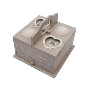 Dřevěná krabice na šitíčko Antic Line Couture