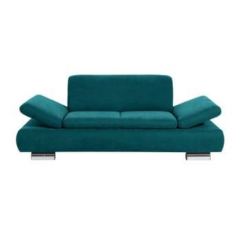 Canapea cu 2 locuri Max Winzer Terrence Anderson, cotiere ajustabile, albastru petrol de la Max Winzer