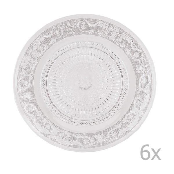 Sada 6 skleněných talířů Clayre, 23 cm