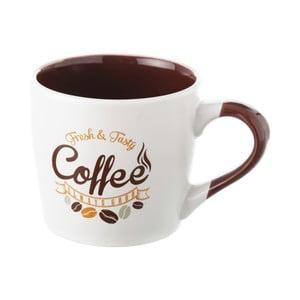 Hnědobílý kameninový hrneček Unimasa Coffee, 230ml