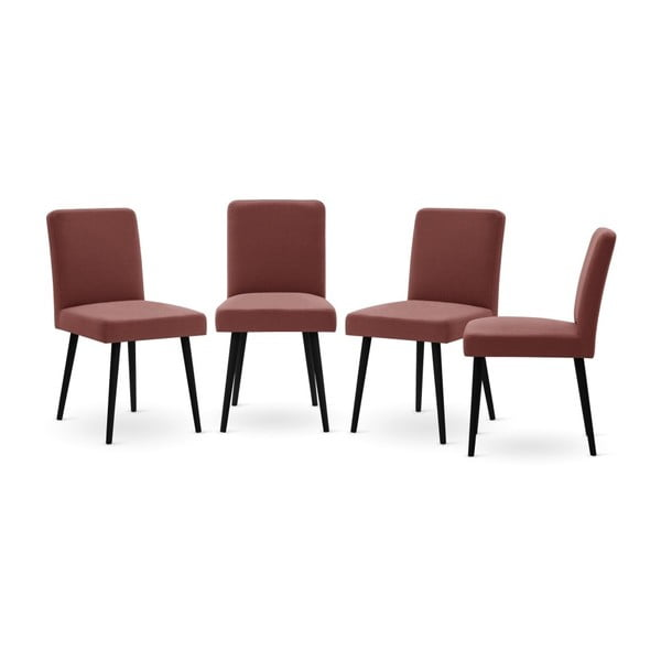 Set canapea taupe cu șezlong pe partea dreaptă, 4 scaune roșu cărămiziu și saltea 160 x 200 cm Home Essentials