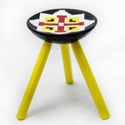 Ručně malovaná stolička Luna, 38 cm