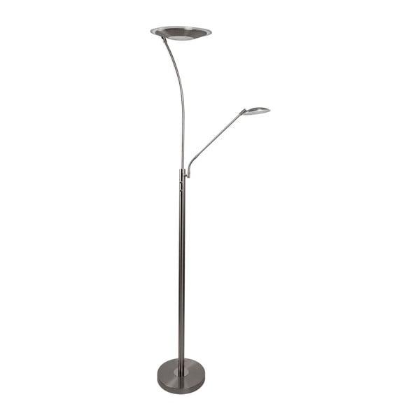 Lampa stojąca ve stříbrné barvě SULION Aron, wys. 180 cm